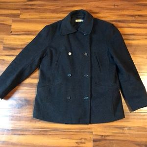 J Crew Pea Coat Woman's S size 6 wool cashmere